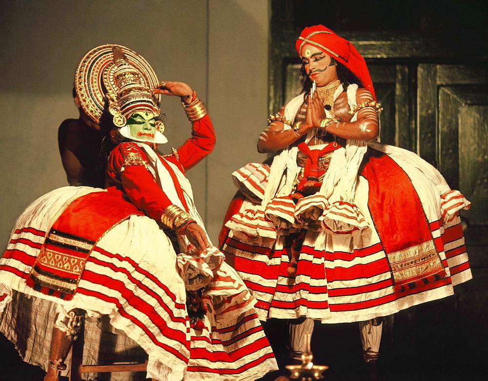 Kathakali, classical dance-drama of Kerala, Trivandrum, Kerala, India, Asia