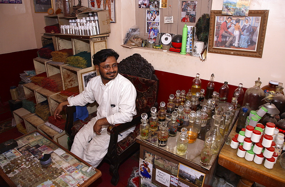 Ayurvedic Doctor, Aman, in Mysore, India, Asia