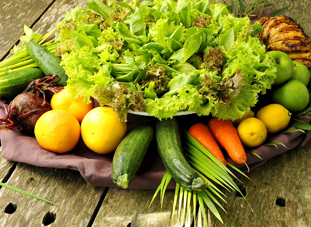 Organic vegetables at The Farm Health and Spa Resort in Batangas, Philippines, Southeast Asia, Asia