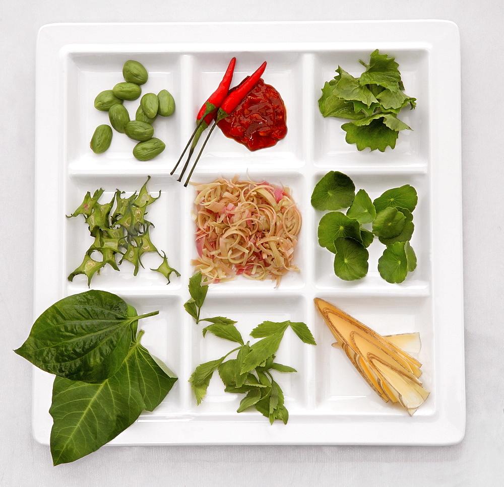 Salad ingredients containing Brahmi Leaves (Centella Asiatica)