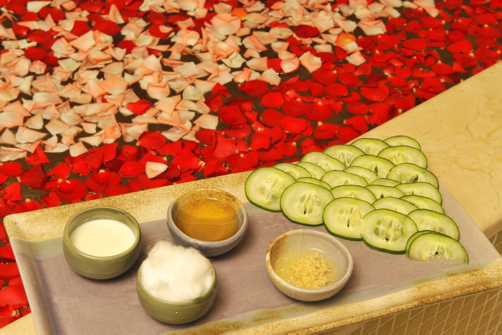 Facial Ingredients with cucumber