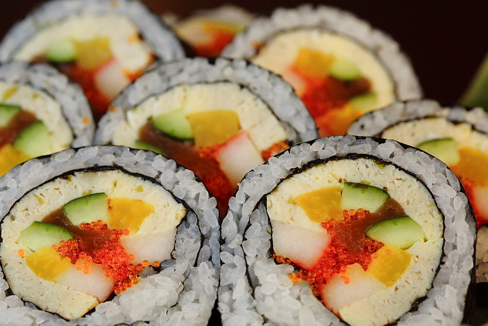Sushi rolls, Japan, Asia