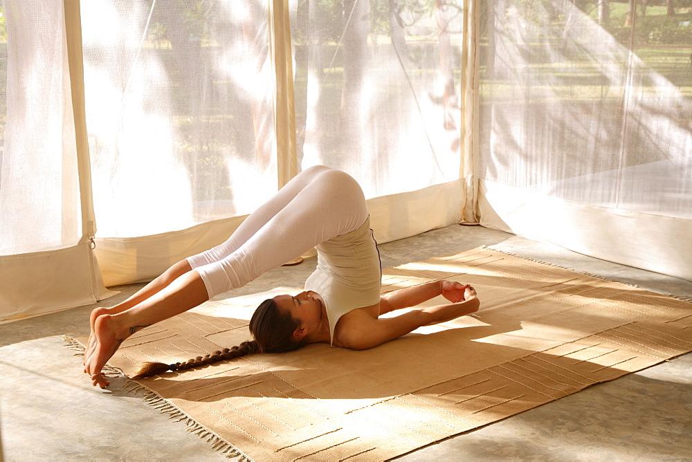 Yoga at Shreyas Retreat, Bangalore, India, Asia - 238-5139