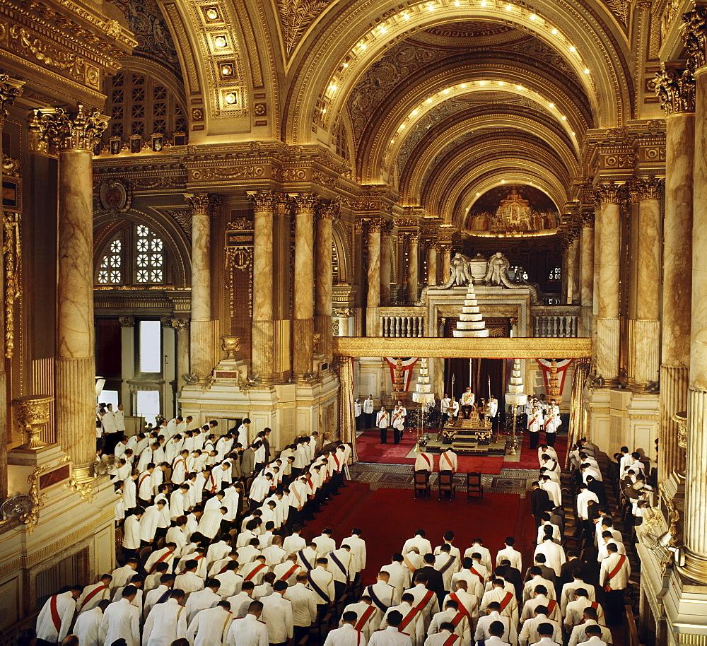 His Majesty King Bhumibol Adulyadeji at the Opening of Parliament in Bangkok, Thailand, Southeast Asia