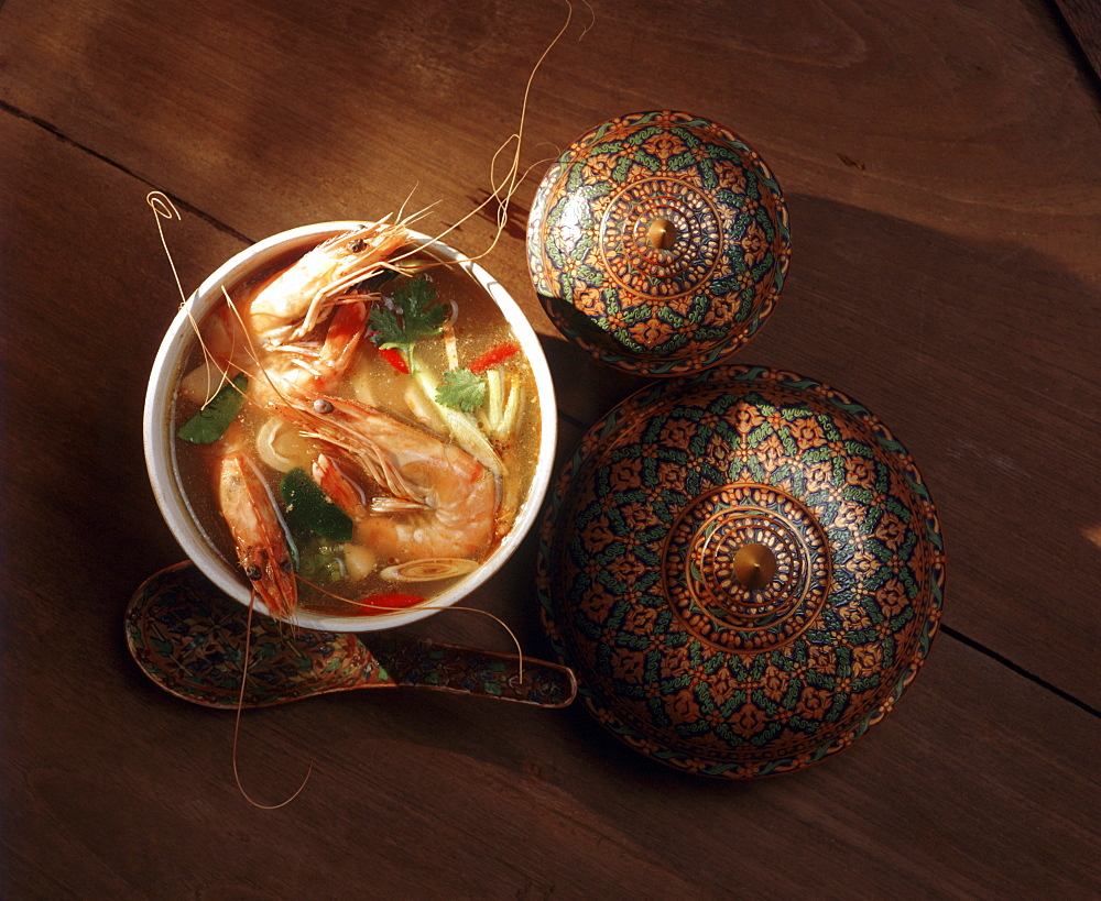 Tom Yum Goong, spicy soup with lemongrass and galangal, Thailand, Southeast Asia, Asia