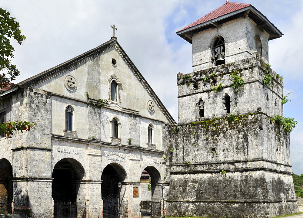 Church of Our Lady of the Immaculate Conception, one of the oldest churches in the country, Baclayon, Bohol, Philippines, Southeast Asia, Asia