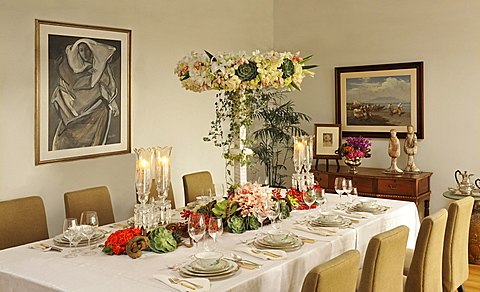 Elegant tablesetting in Manila, Philippines, Southeast Asia, Asia