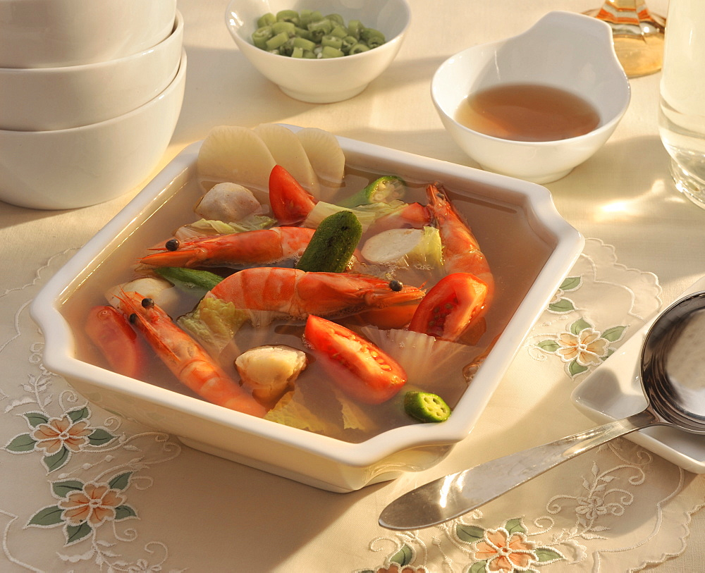 Sinigang, a popular filipino sour soup, Philippines, Southeast Asia, Asia