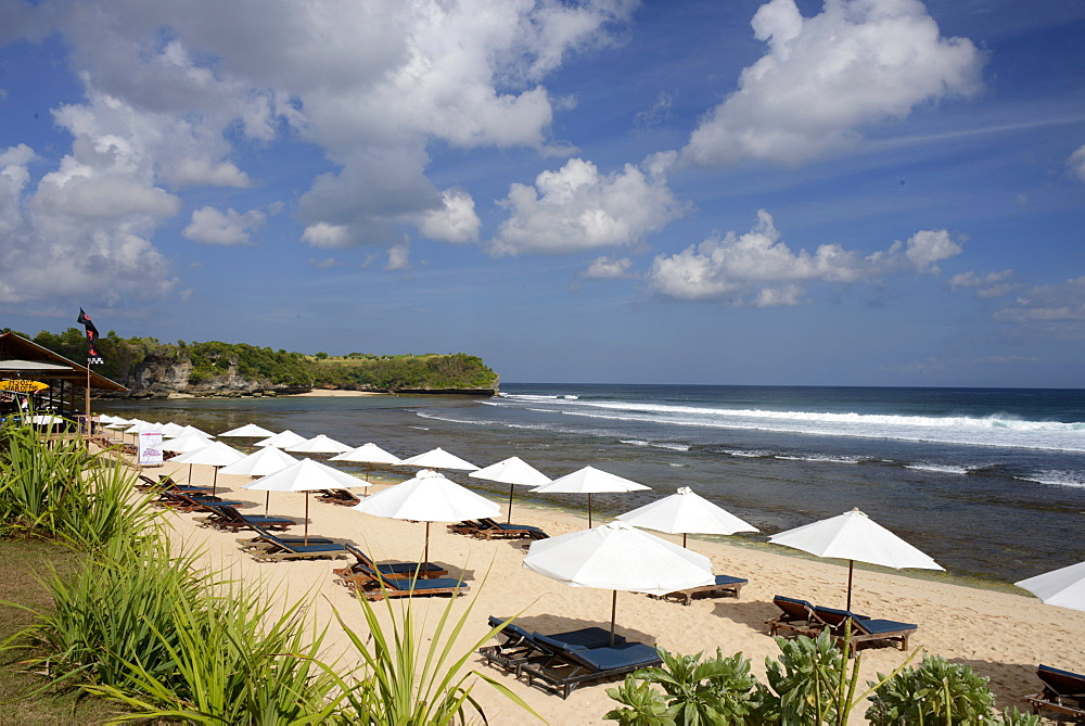 Balangan Beach and surfing hub, Bukit Peninsula, Bali, Indonesia, Southeast Asia, Asia