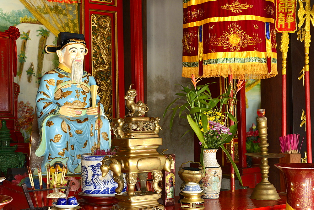Confucius, Quan Cong temple, Hoi An, Vietnam, Indochina, Southeast Asia, Asia - 238-6361