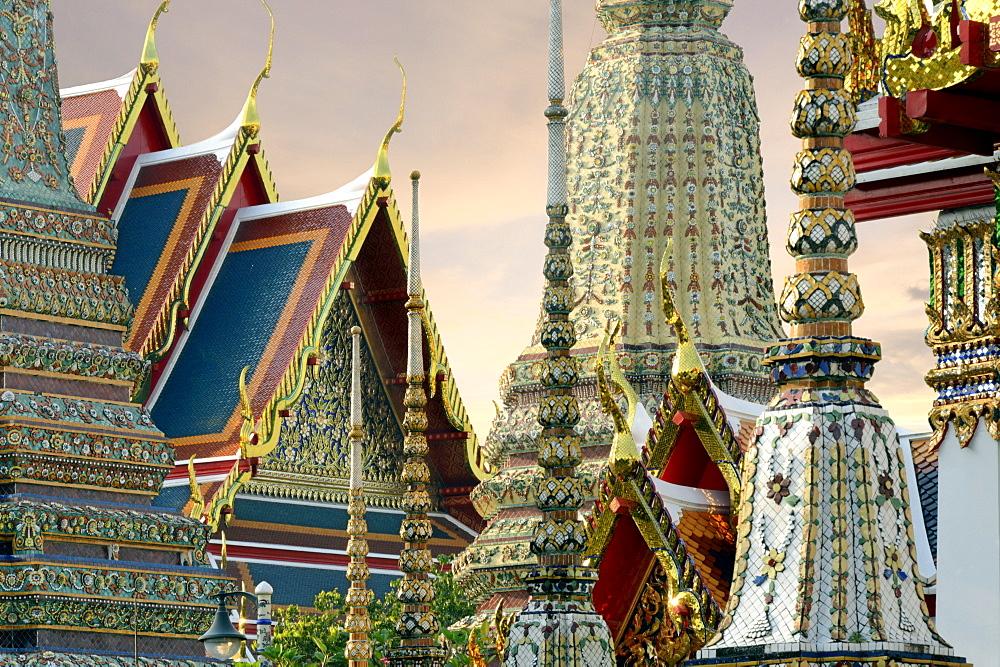 Wat Pho (Wat Phra Chetuphon), Bangkok, Thailand, Southeast Asia, Asia  - 238-6434