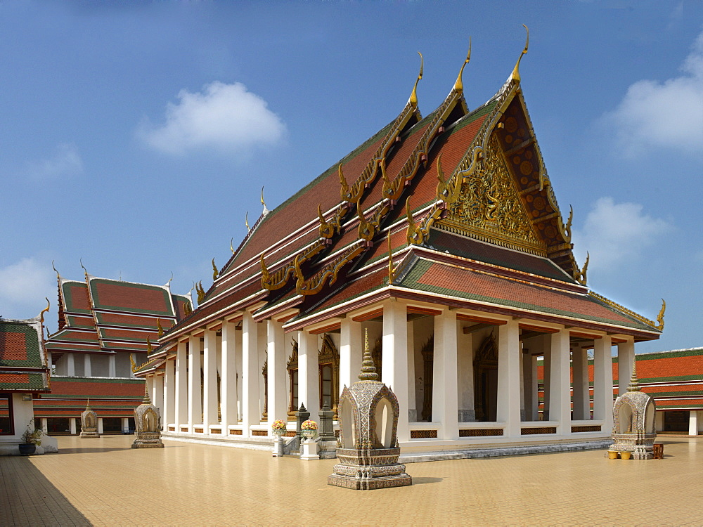 Wat Saket, Bangkok, Thailand, Southeast Asia, Asia  - 238-6439