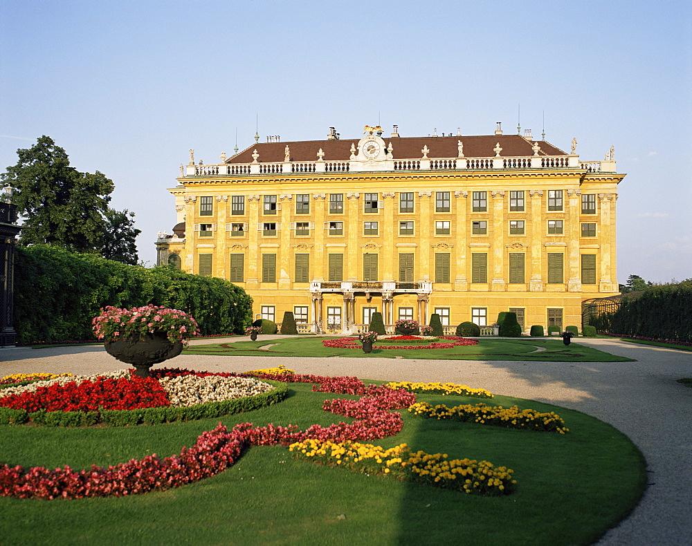 Palace and gardens of Schonbrunn, UNESCO World Heritage Site, Vienna, Austria, Europe