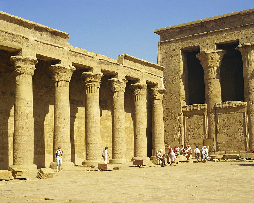 Temple of Horus, Edfu, Egypt, North Africa, Africa