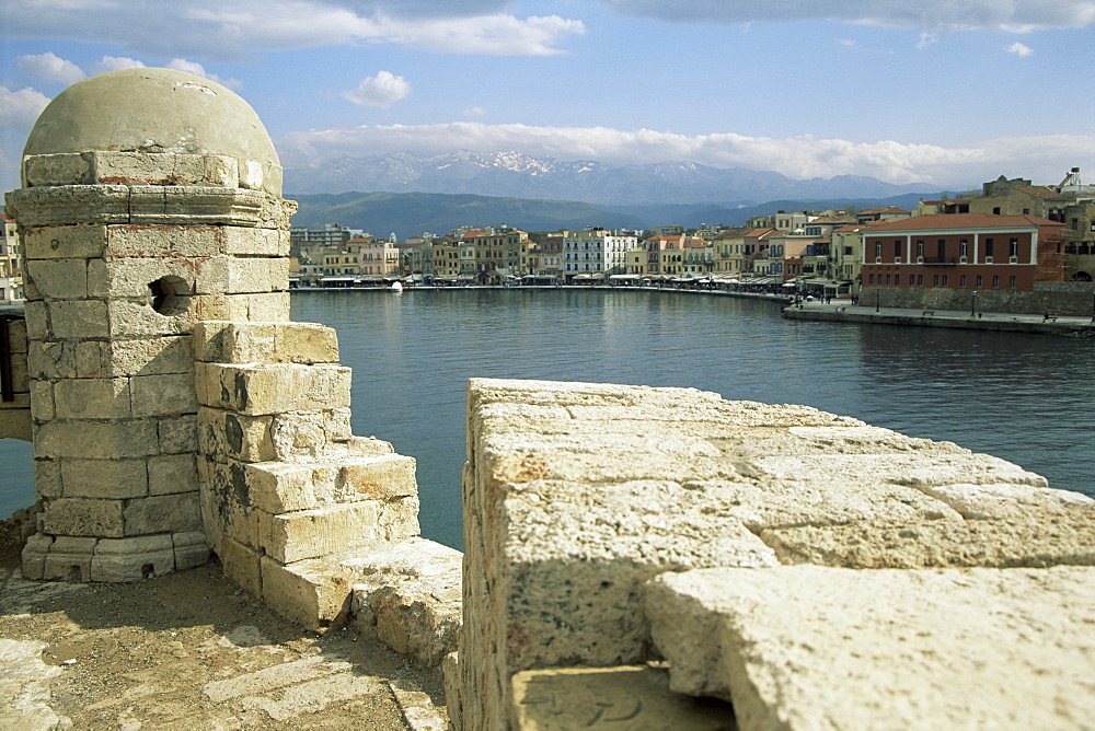 View from the lighthouse of Chania, Crete, Greece, Europe
