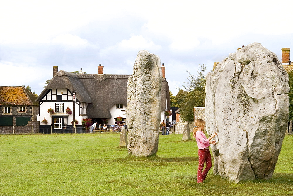 Standing stones, Avebury, UNESCO World Heritage Site, Wiltshire, England, United Kingdom, Europe
