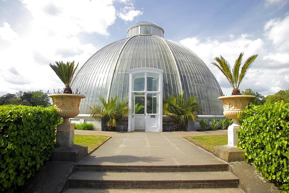 The Palm House conservatory, Kew Gardens, UNESCO World Heritage Site, London, England, United Kingdom, Europe