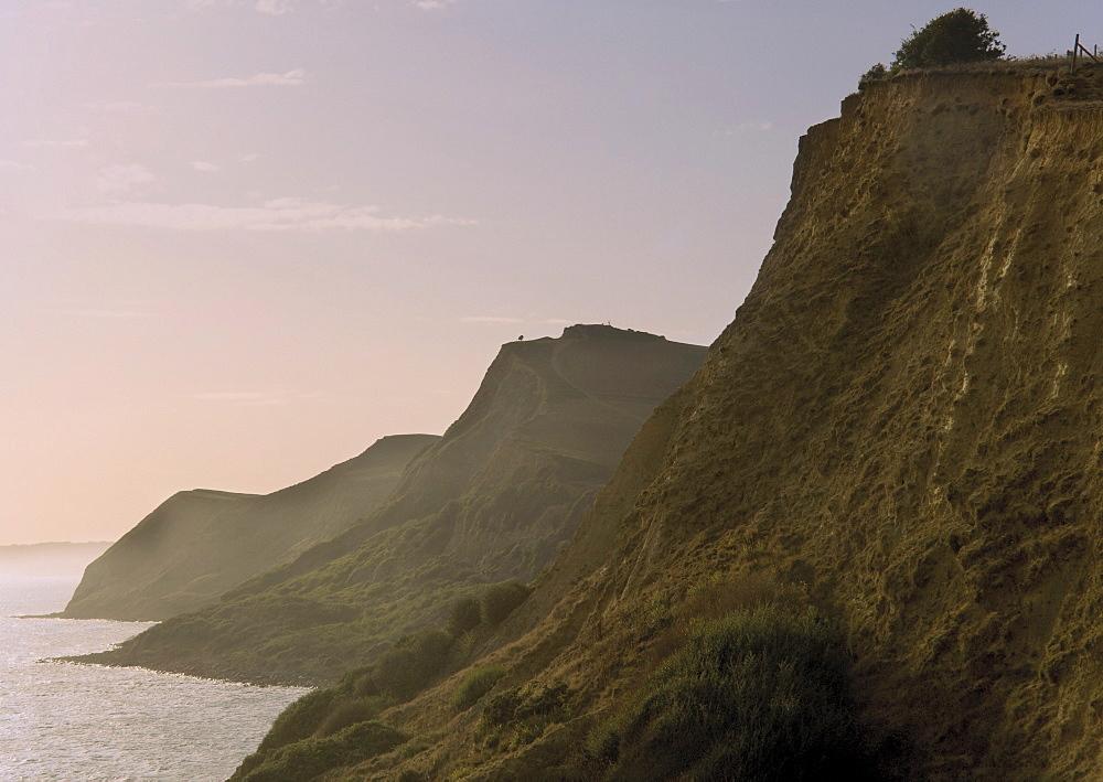 Dorset Coast Path to Thornecombe Beacon, Eype Mouth, Jurassic Coast, UNESCO World Heritage Site, Bridport, Dorset, England, United Kingdom, Europe