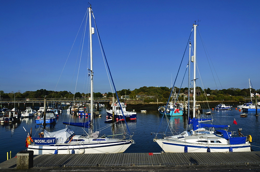 Old Town Quay, Lymington, Hampshire, England, United Kingdom, Europe - 255-8955