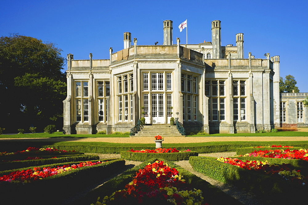 The exterior of Highcliffe Castle, Dorset, England, United Kingdom, Europe - 255-8960
