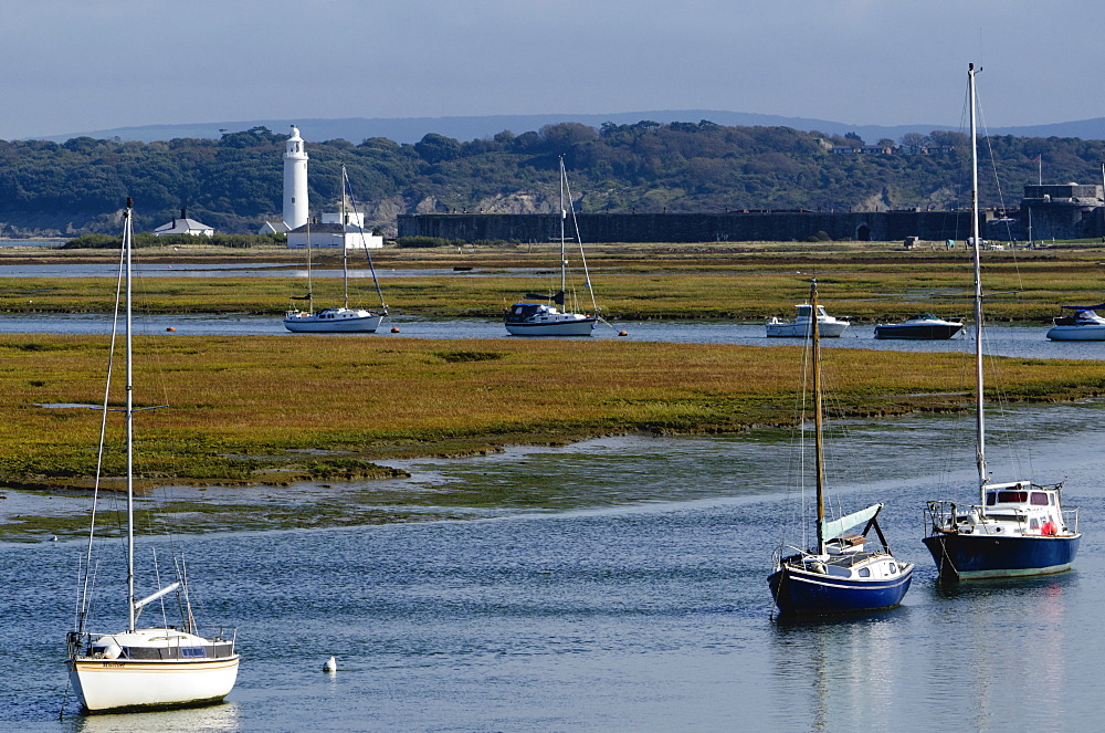 Salt marshes, Hurst Spit, Keyhaven, Hampshire, England, United Kingdom, Europe - 255-8964