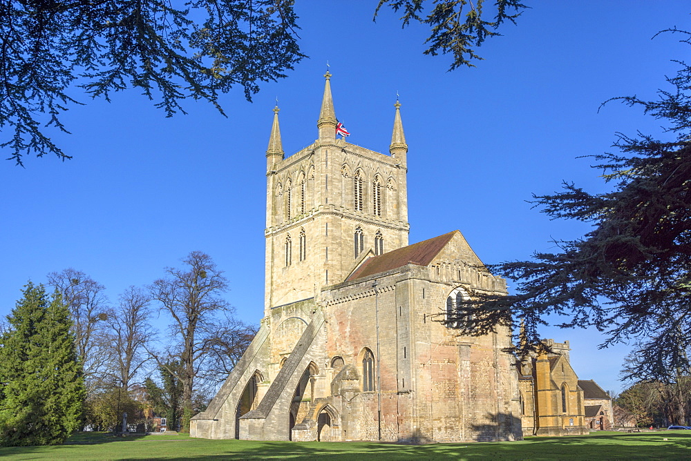 Pershore Abbey, a Church of England parish church, Pershore, Worcestershire, England, United Kingdom, Europe - 255-9009