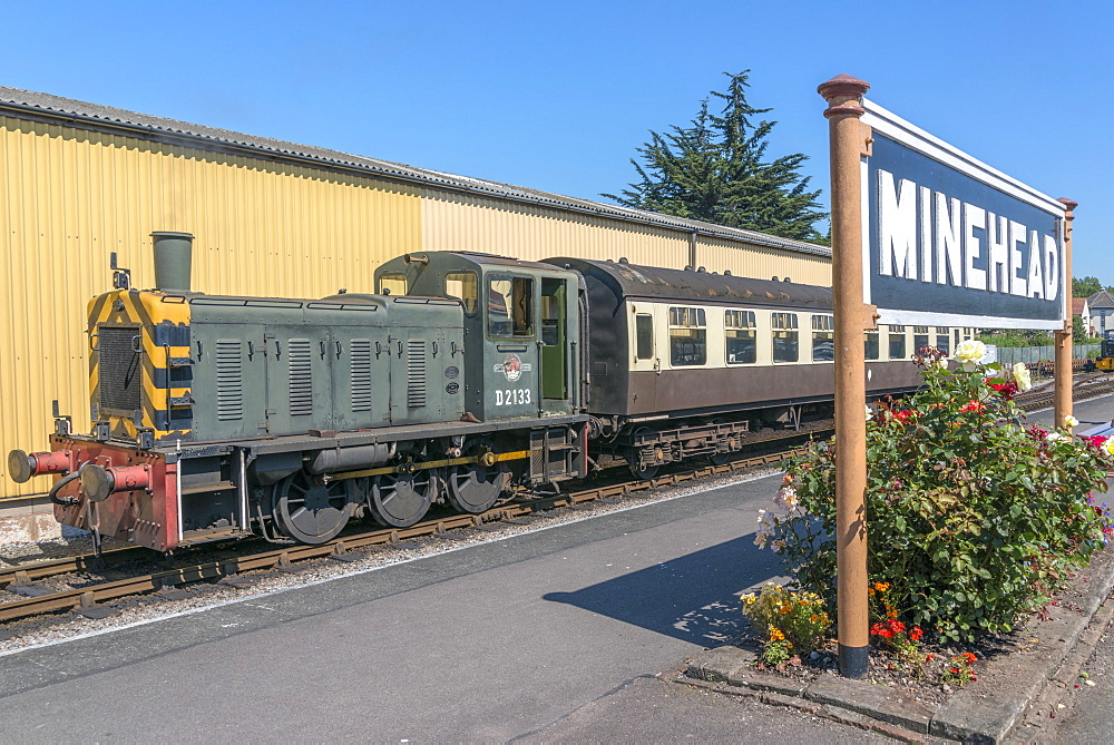 The West Somerset Railway, Minehead Station, Somerset, England, United Kingdom, Europe - 255-9015
