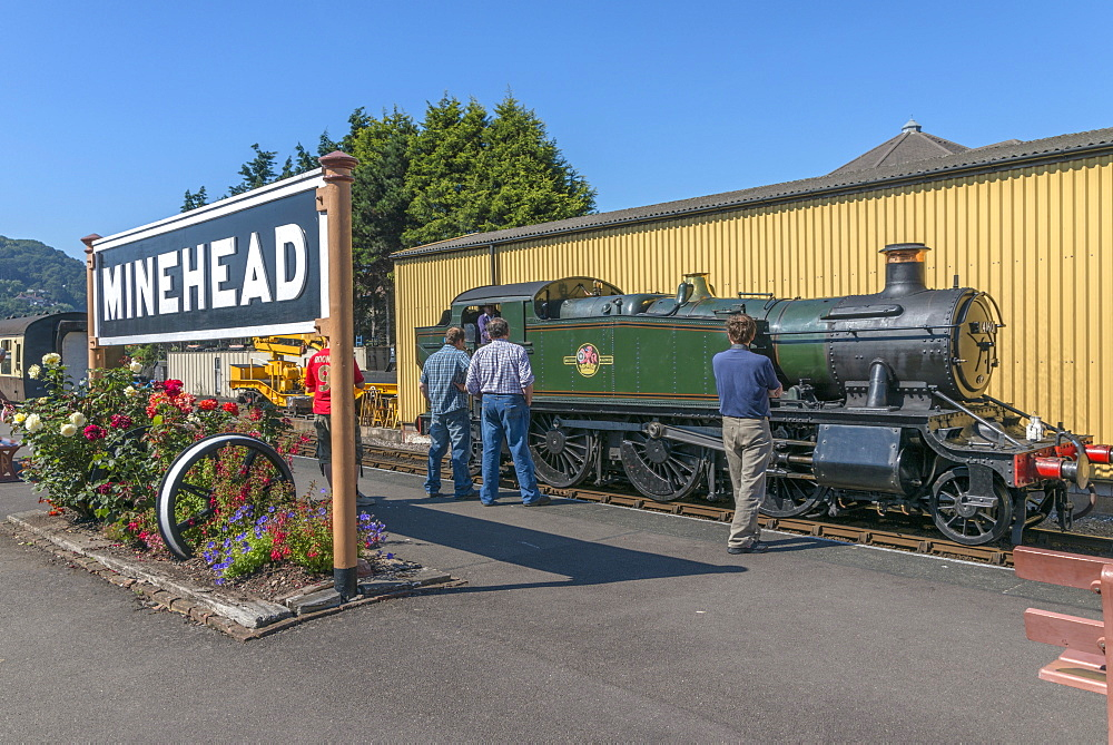 The West Somerset Railway, Minehead Station, Somerset, England, United Kingdom, Europe - 255-9016
