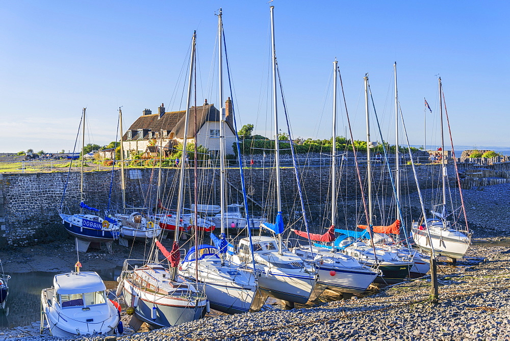 Porlock Weir, North Somerset coast, Somerset, England, United Kingdom, Europe - 255-9019