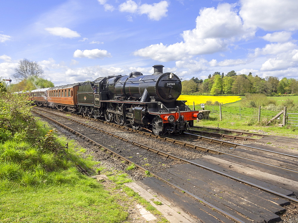 Severn Valley Preserved Steam Railway, Arley Station, Worcestershire, England, United Kingdom, Europe - 255-9024