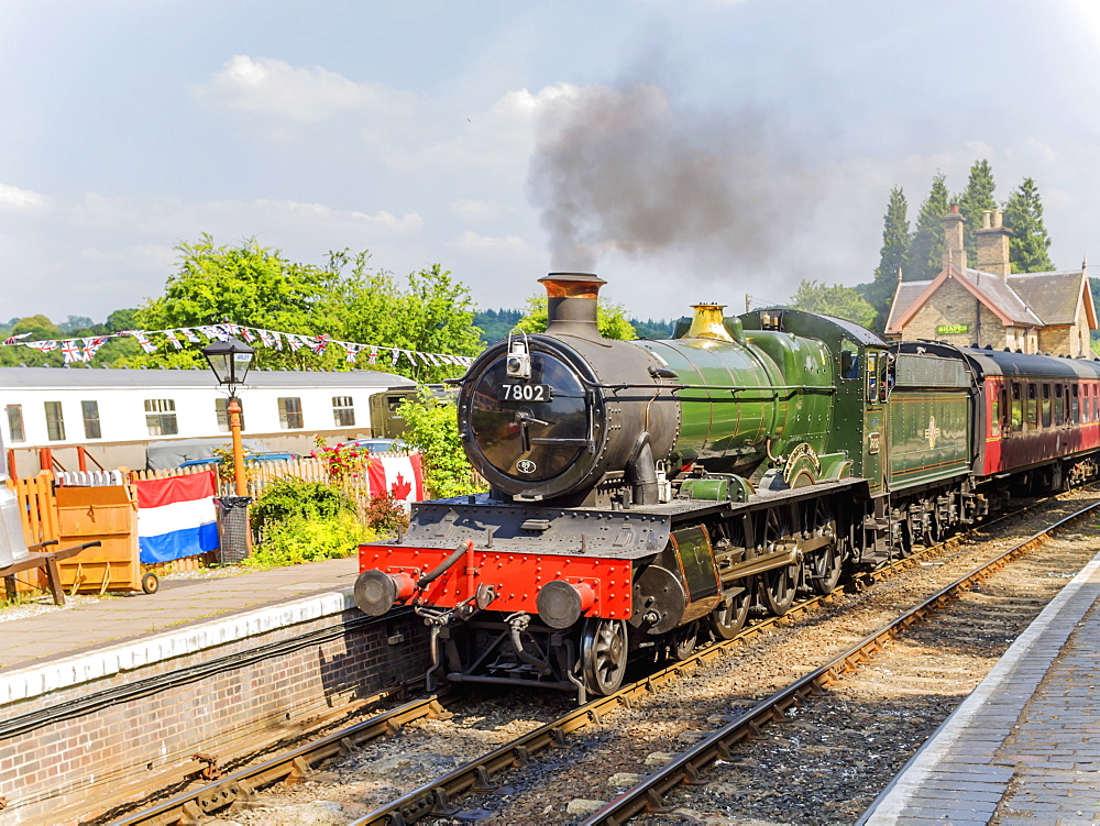 Severn Valley Preserved Steam Railway, Arley Station, Worcestershire, England, United Kingdom, Europe - 255-9027