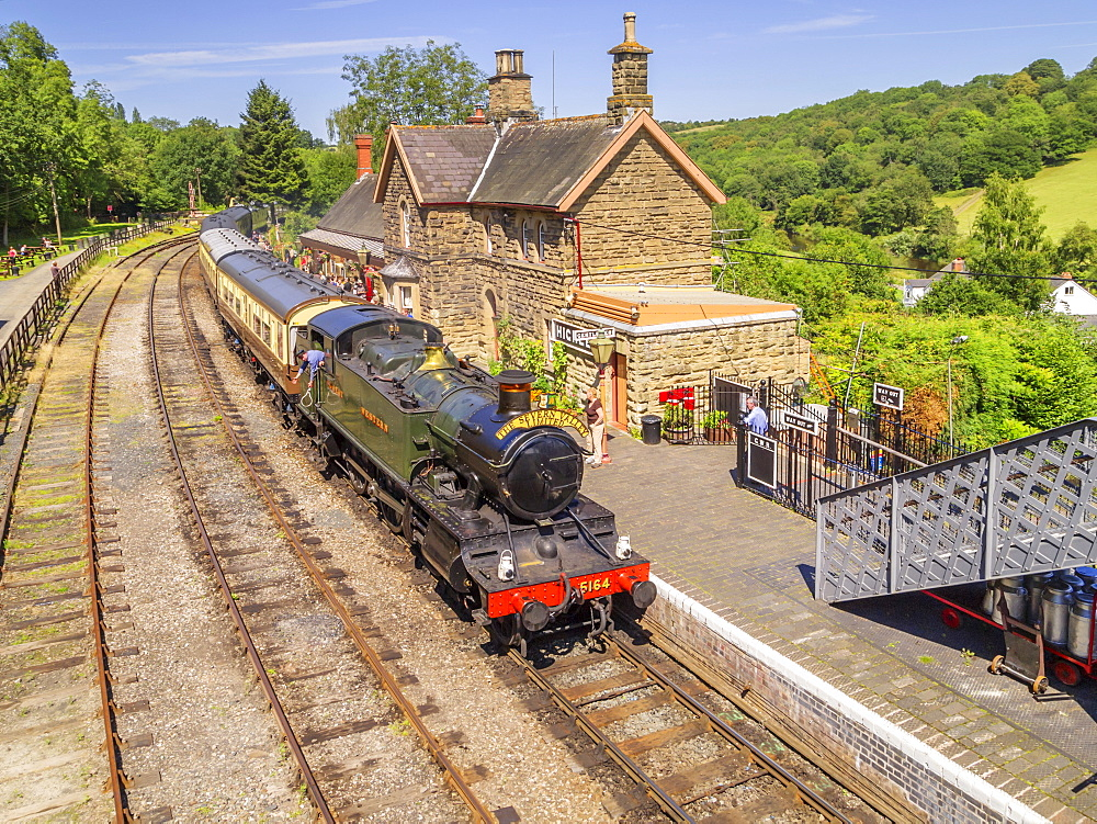 Severn Valley Preserved Steam Railway, Arley Station, Worcestershire, England, United Kingdom, Europe - 255-9029