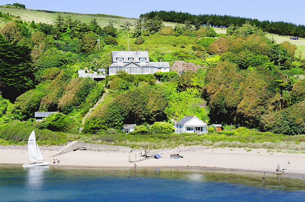 Bantham, Bigbury on Sea, estuary of the River Avon, Devon, England, United Kingdom, Europe - 255-9031