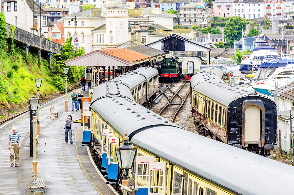 Dartmouth and Paignton Railway, Kingswear Station, Dartmouth, Devon, England, United Kingdom, Europe - 255-9033