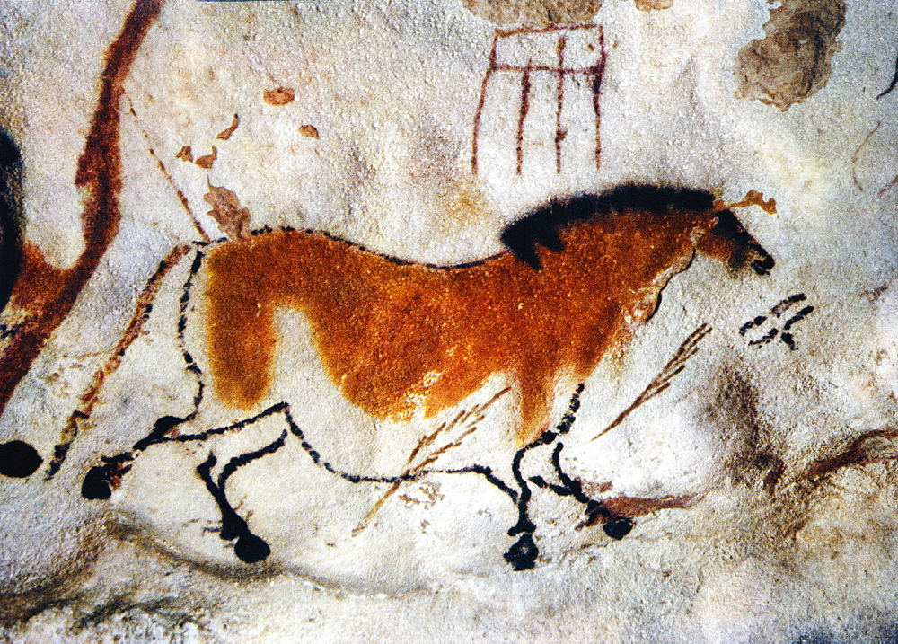 Cave painting, Lascaux, Aquitaine, France *** Local Caption ***
