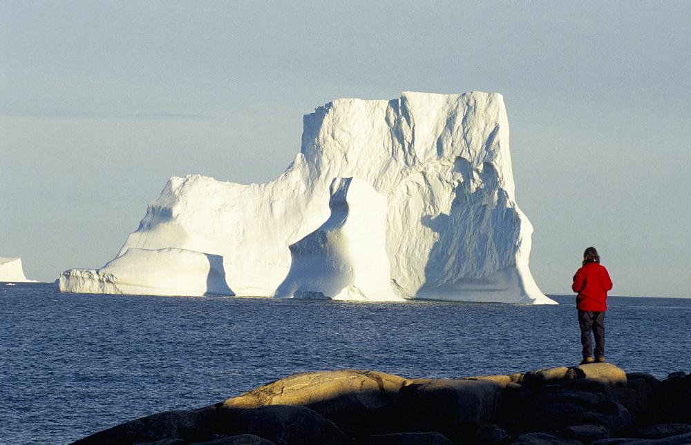 Icebergs in Disko Bay, Qeqertarsuag (Godhavn) on Disko Island, west coast, Greenland, Polar Regions
