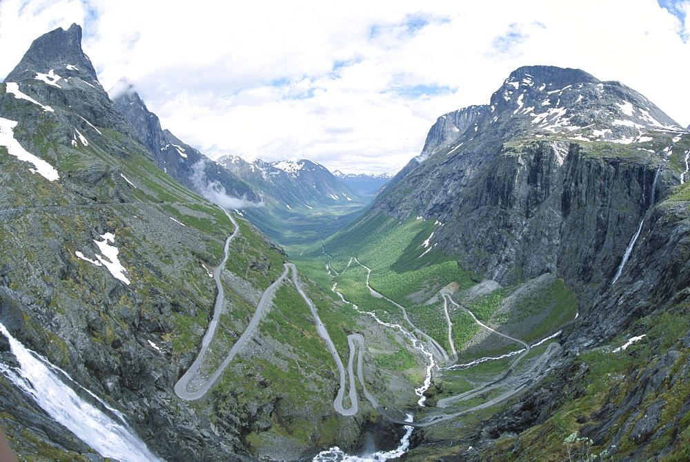 Route from Andalsnes to Geiranger, Trollstigen Road, Western Fiordlands, Norway, Scandinavia, Europe