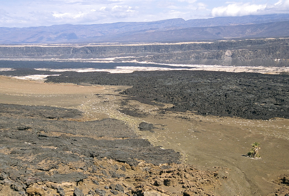 Lavas from Ardoukoba volcano in Rift Valley 152m below sea level, Afar Triangle, Djibouti, Africa