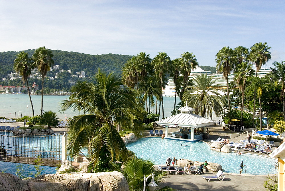 Luxury hotel at Ocho Rios, north coast of Jamaica, West Indies, Caribbean, Central America
