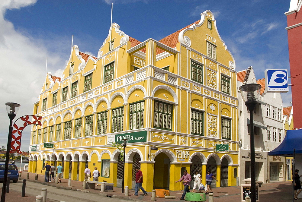 Dutch style buildings in the Punda central district, Willemstad, Curacao (Dutch Antilles), UNESCO World Heritage Site, West Indies, Caribbean, Central America