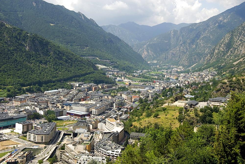 Andorra la Vella, capital city of Andorra state