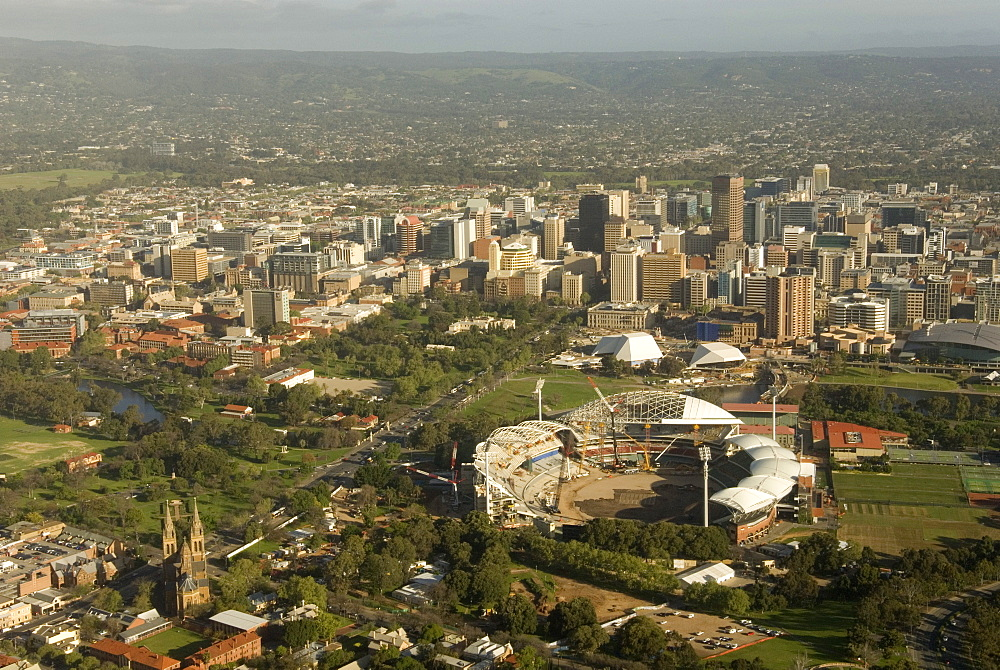 Air view of downtown Adelaide, South Australia, Australia, Pacific
