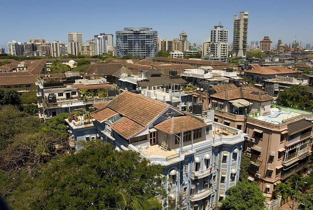 Roof-tops and high-rises of Colaba, Mumbai, India, Asia