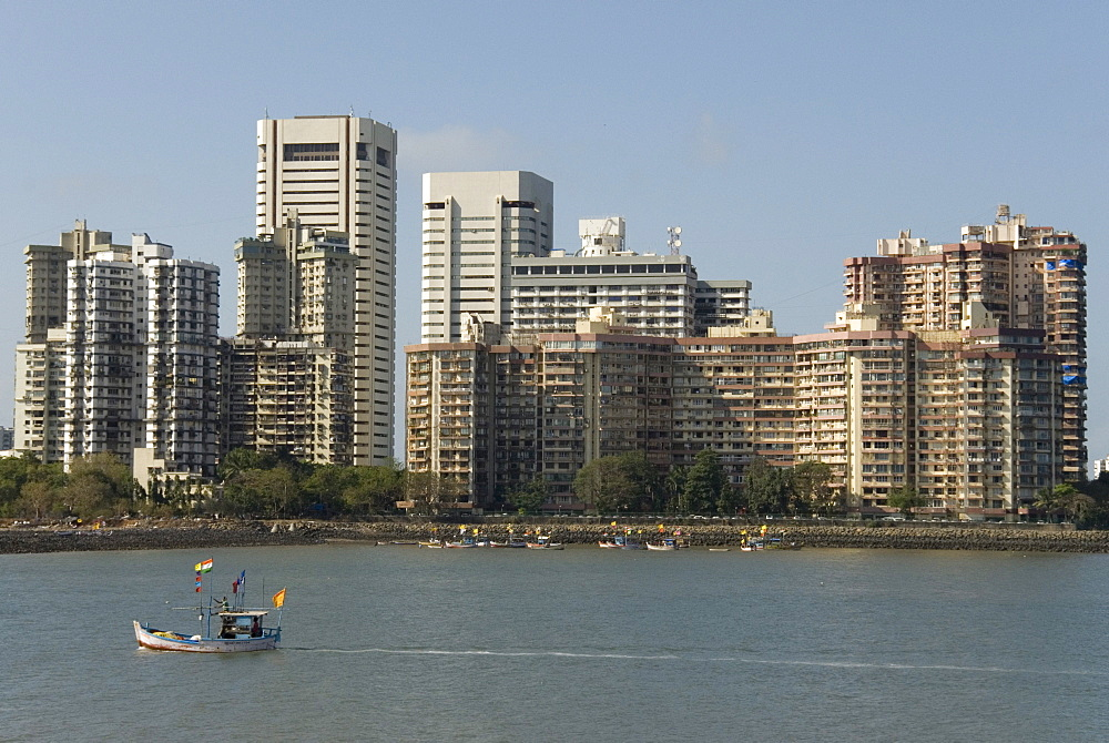 High-rises of southern Colaba, Mumbai, India, Asia