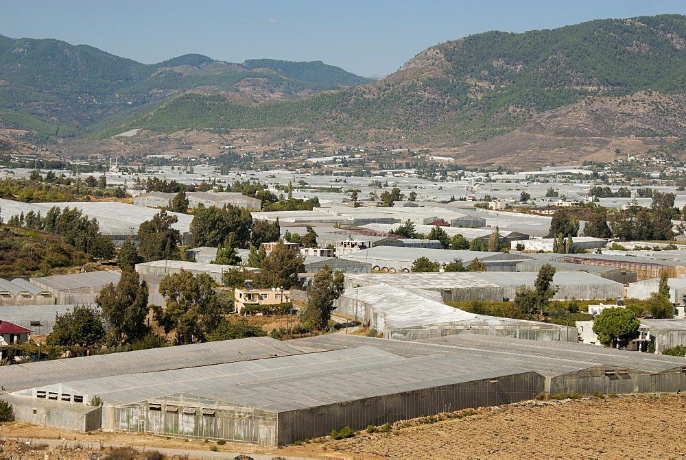 Agriculture under plastic, Anamur Plain, Taurus coast, Southern Turkey, Anatolia, Turkey, Asia Minor, Eurasia