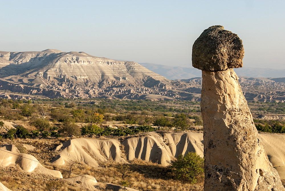 Pinnacles of volcanic ash, Urgup, UNESCO World Heritage Site, Cappadocia, Anatolia, Turkey, Asia Minor, Eurasia - 29-5358