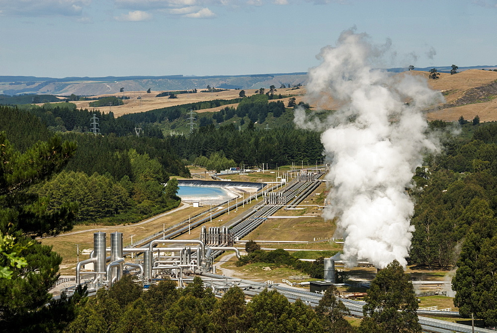 Wairakei Geothermal Power Station, Taupo, North Island, New Zealand, Pacific - 29-5382
