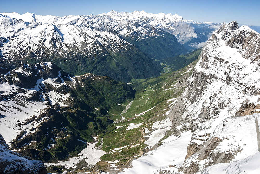 Wendental, seen from Titlis, above Engelberg, Unterwald, Switzerland, Europe - 29-5388