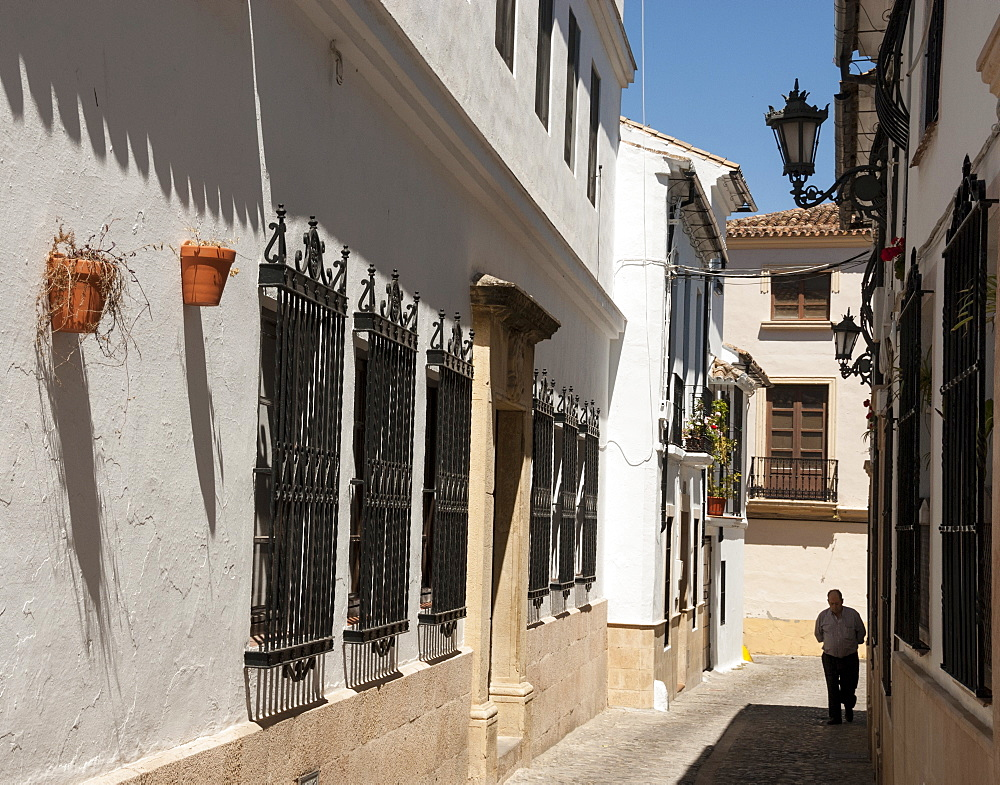Houses in old quarter, Ronda, Malaga province, Andalucia, Spain, Europe - 29-5394
