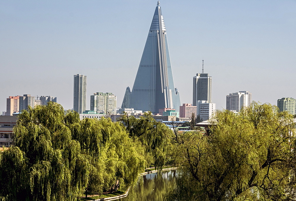 Ryugyong Hotel building, not occupied, Pyongyang, North Korea, Asia